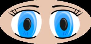 Blue Anime Eyes clip art - vector clip art online, royalty free & public domain